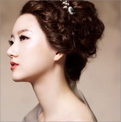 超美韩式新娘发型 婚礼造型风向标(2)_妆面赏析_影楼