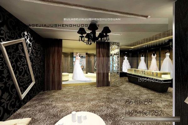 婚紗店裝修設計,撩撥新娘動情的眼神