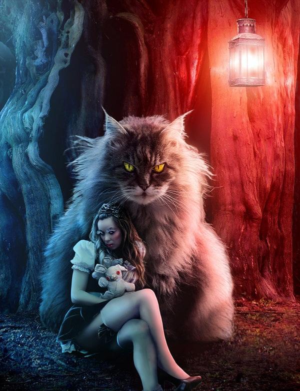 乌克兰Sasha Fantom:魔幻后期 打造超现实主义人像 - 牧笛 - ★牧笛(KNIGHT)城堡★