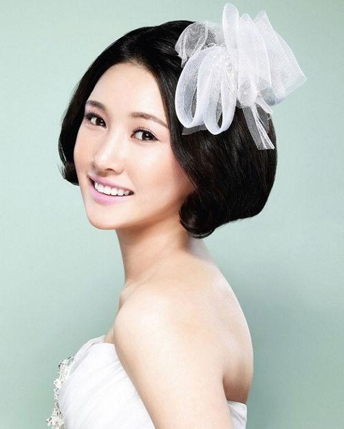 唯美韩式新娘发型图片