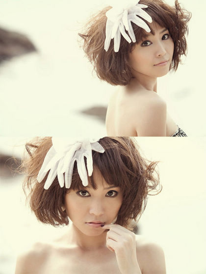 2013韩式俏皮短发新娘造型(3)