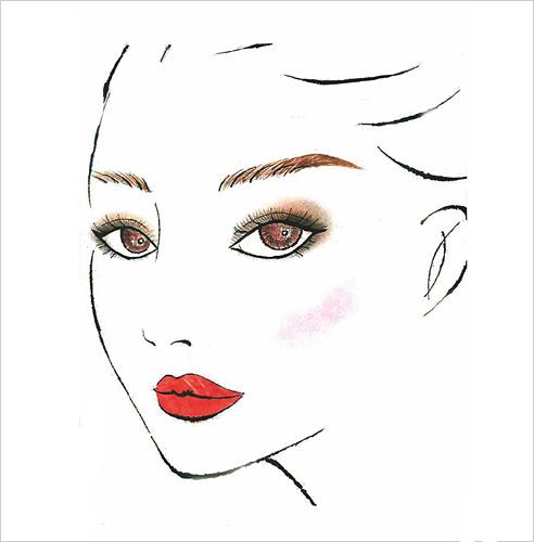 创意妆面效果图手绘