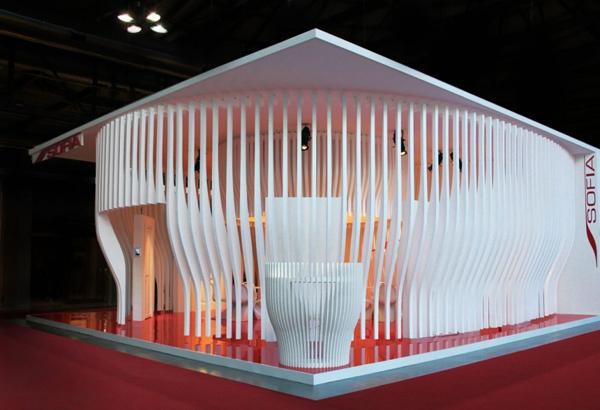概念空间装修设计展示:让光线穿梭流动的结构