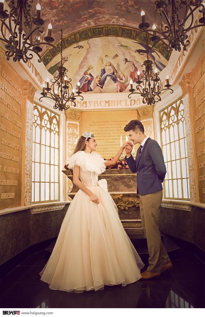 欧式教堂婚纱摄影