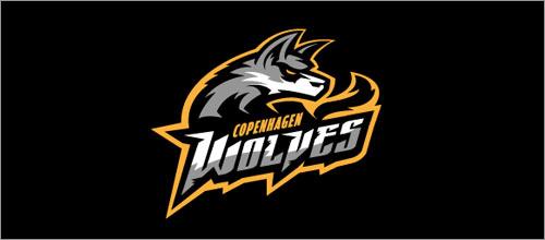 可爱狼logo