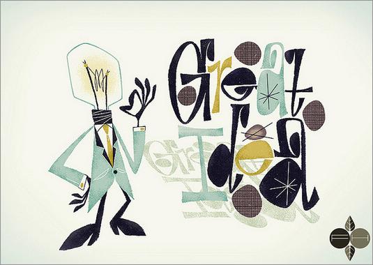 疯狂的字母创意插画_设计欣赏