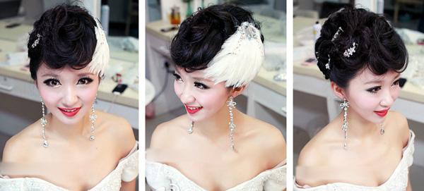 时尚优雅新娘盘发造型(3)