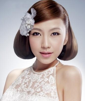 最时尚新娘造型图片欣赏 打造温婉韩式新娘发型图片