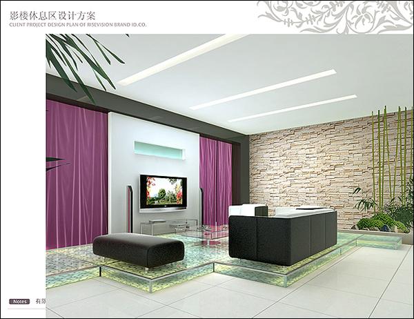 婚纱影楼装修设计案例解析:整体的绿色布局,淡雅的紫色与黄色的搭配,让空间变成了舒缓的新天地。   各种纹理和造型融入,让整体的色彩搭配得以协调缓和。在绿色基调的主色空间氛围中,各种搭配形成了高雅格调的视觉焦点。