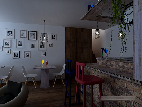 这是一家私人工作室,本案的装修设计主要分为两个区域,两种风格来设计。以时尚、简约、主要以女性为出发点,一楼:业主要求,时尚,个性,简约。主要接待客人的休闲区。二楼主要为女性而打造,带有高雅,时尚,浪漫的氛围