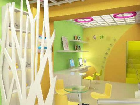 儿童影楼装修设计,用色彩勾勒的快乐天地_装修·橱窗