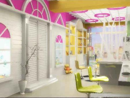 儿童影楼装修设计,用色彩勾勒的快乐天地