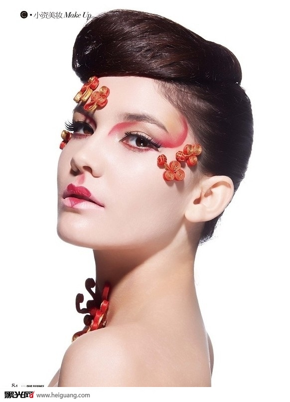 中国风_化妆造型_黑光图库图片