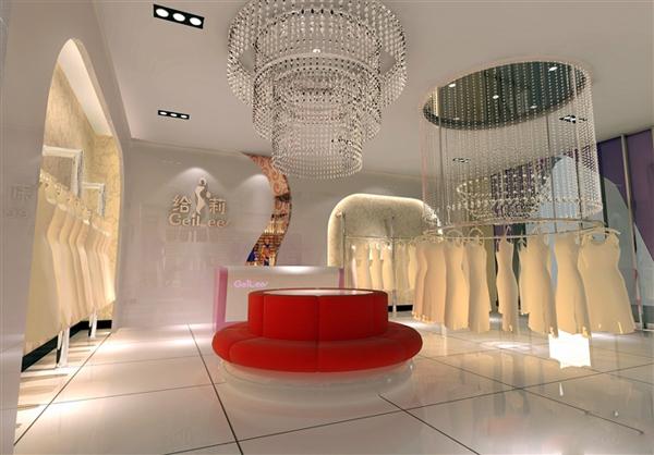 婚纱店面装修设计,新颖个性的青春版空间