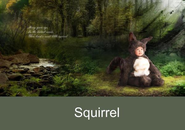 趣味童话故事:动物造型儿童摄影服装道具