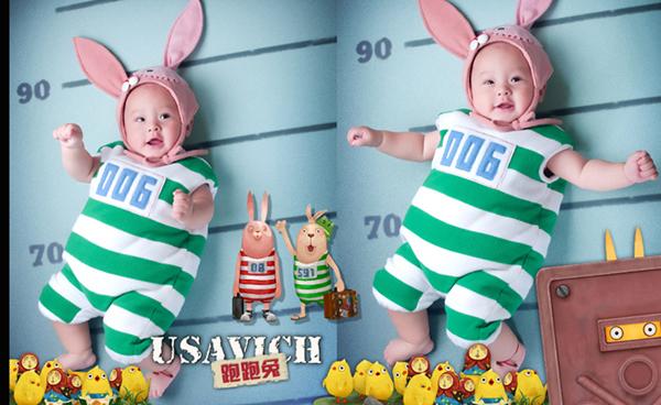趣味童话故事:动物造型儿童摄影服装道具(7)