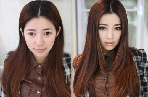 化妆步骤及教程图解妆前妆后对比图化妆步骤女人妆前