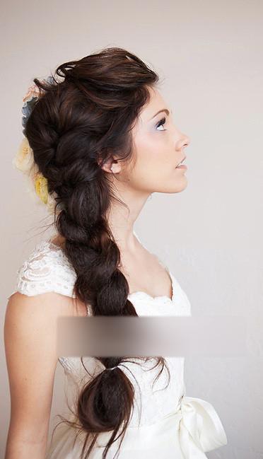 长发公主新娘发型 装扮娇美华贵的你(10)