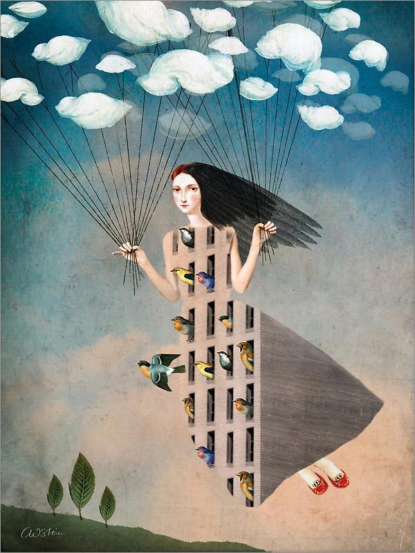 黑光人才网_德国艺术家Catrin Welz-Stein超现实主义插画作品(13)_设计欣赏_影楼 ...
