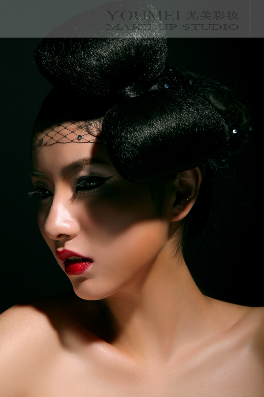 旗袍彩妆造型 唯美复古图片