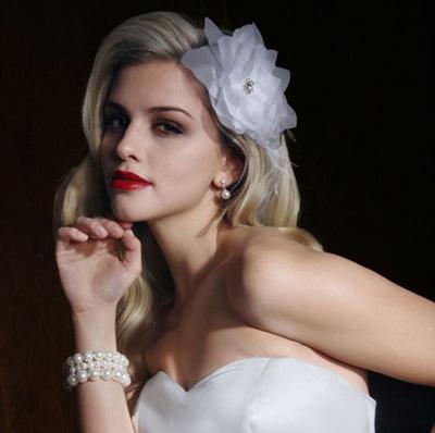 经典欧美风新娘气质长卷发 打造完美新娘图片