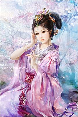 中国插画师phoenix lu人物角色插画欣赏(7)