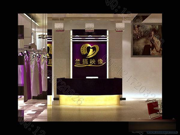 兰摄映像时尚摄影门面及室内装修设计效果图