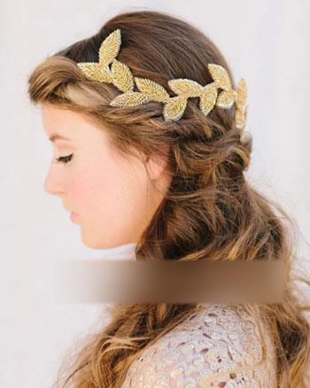 森女新娘最适用的婚礼浪漫发型(9)