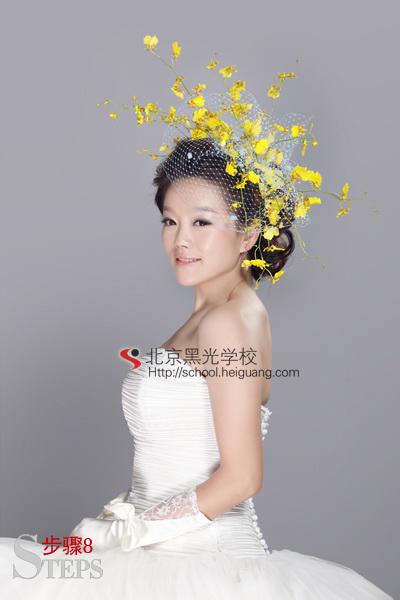 13依澜教你打造完美新娘鲜花造型   化妆教程   影楼化妆