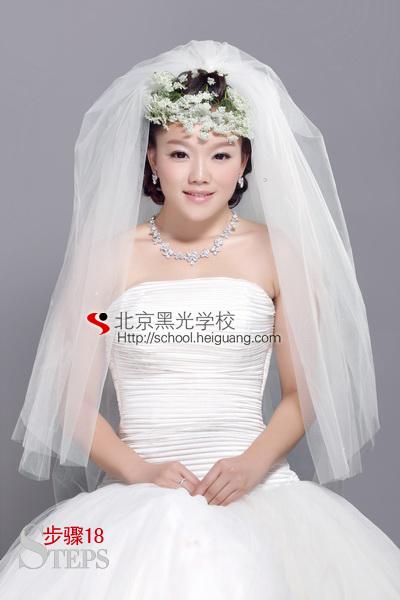 澜教你打造完美新娘鲜花造型(二)   化妆教程   影楼化妆