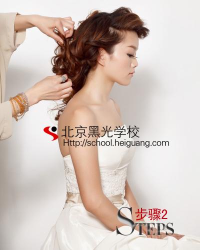 你如果打造清新淡雅新娘鲜花造型   化妆教程   影楼化妆