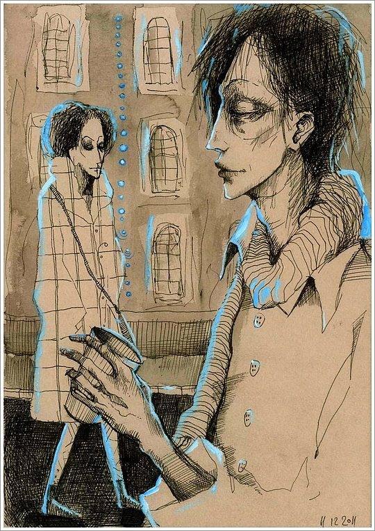 Ototoi富有线图的插画人物设计欣赏cad二次色彩绘制图片