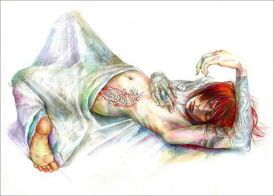 Ototoi富有色彩的插画人物设计欣赏抱枕平面设计图图片