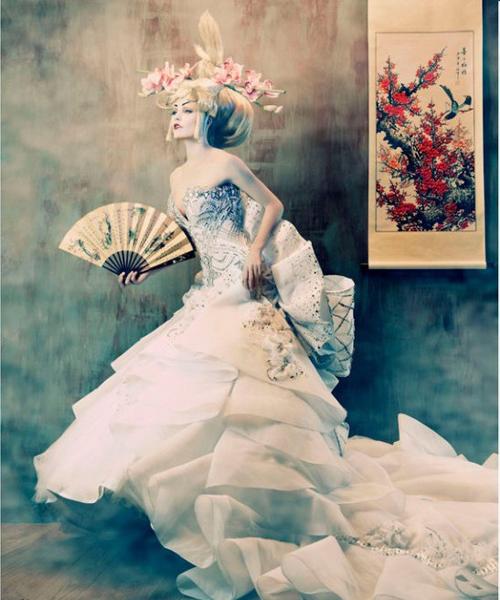 外国美女拍日本艺妓范婚纱照