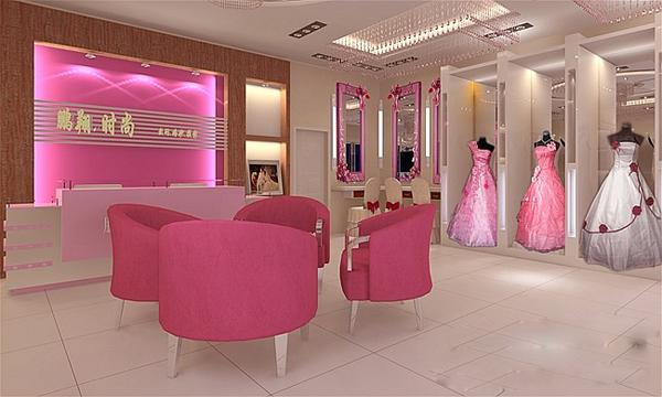 粉色系影楼装修设计空间