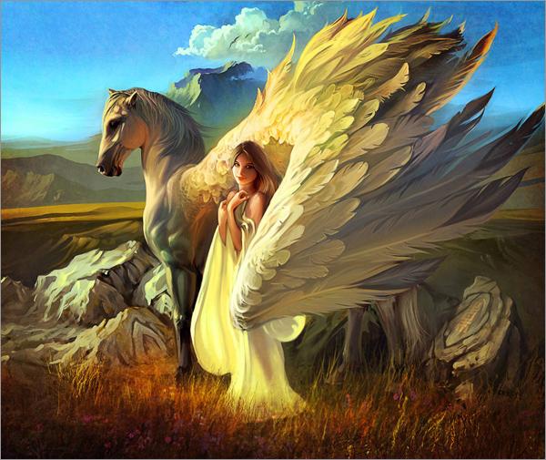 30个天使cg艺术作品插画设计欣赏