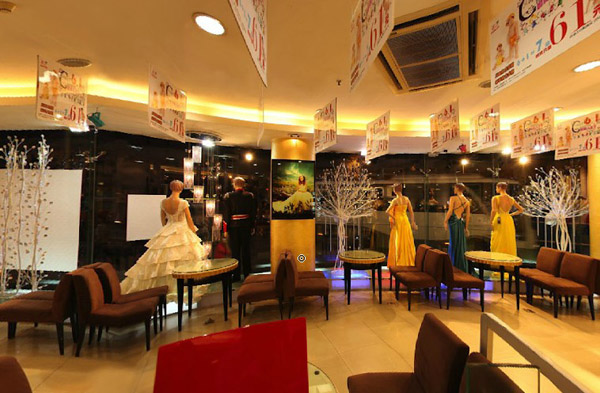 昆明台北婚纱摄影店面装修设计:豪华,富丽的动感空间图片