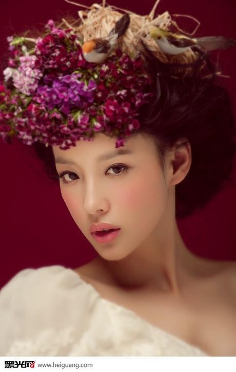 鲜花新娘 化妆造型