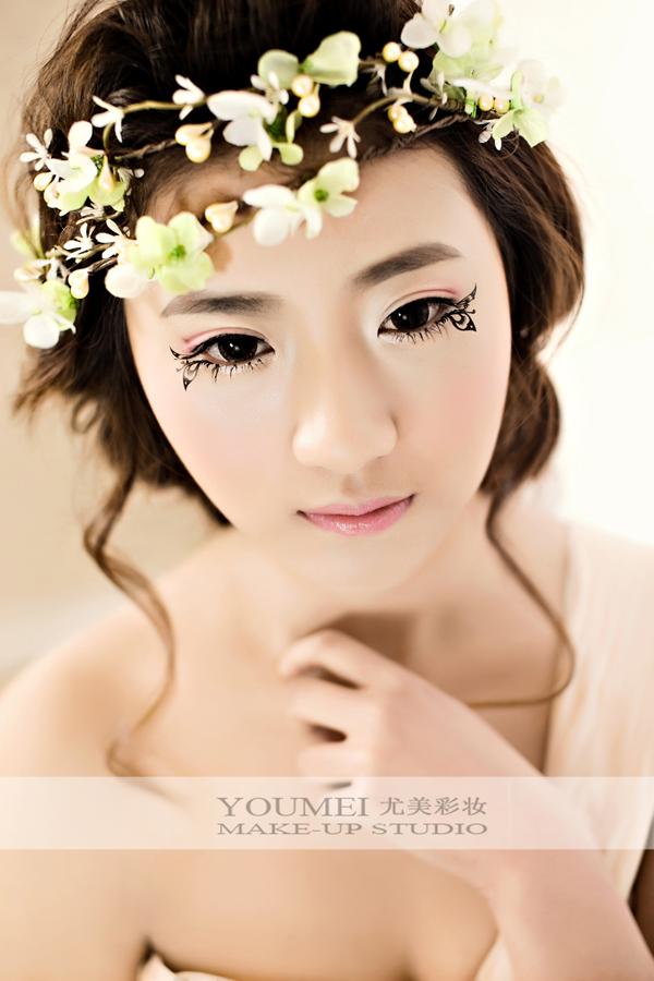 唯美个性新娘妆容图片