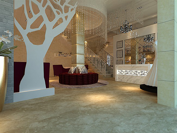 米兰春天婚纱影楼,时尚魅力的装修设计3d效果图