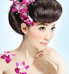 韩式新娘鲜花造型
