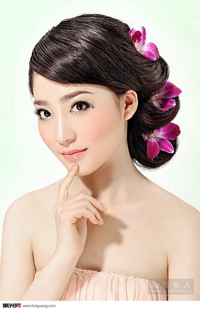 韩式新娘鲜花造型 化妆造型