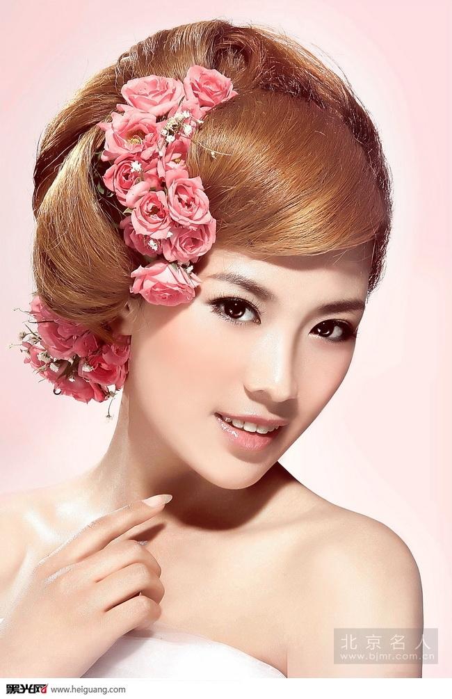 韩式新娘鲜花造型(全)_化妆造型_黑光图库_黑光网