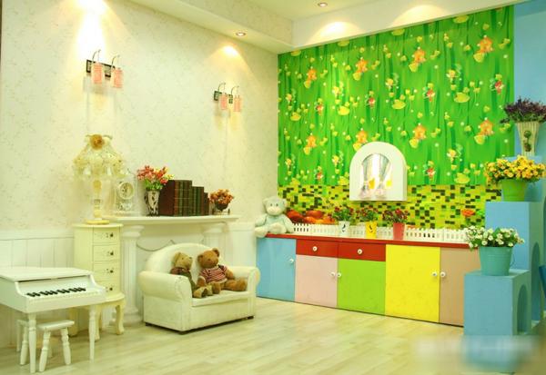 金色童年中韩儿童摄影,明亮中的小清新装修设计