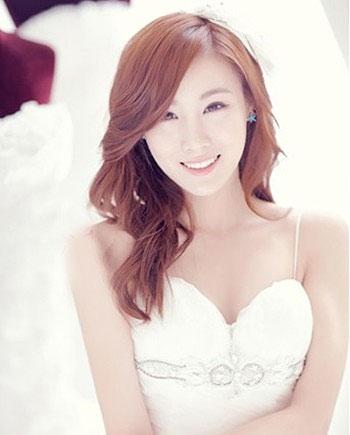 韩国女星示范新娘发型 清新甜美