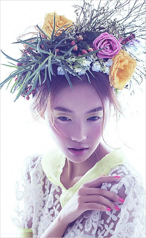 森女系闺蜜写真造型_妆面赏析_影楼化妆_黑光网