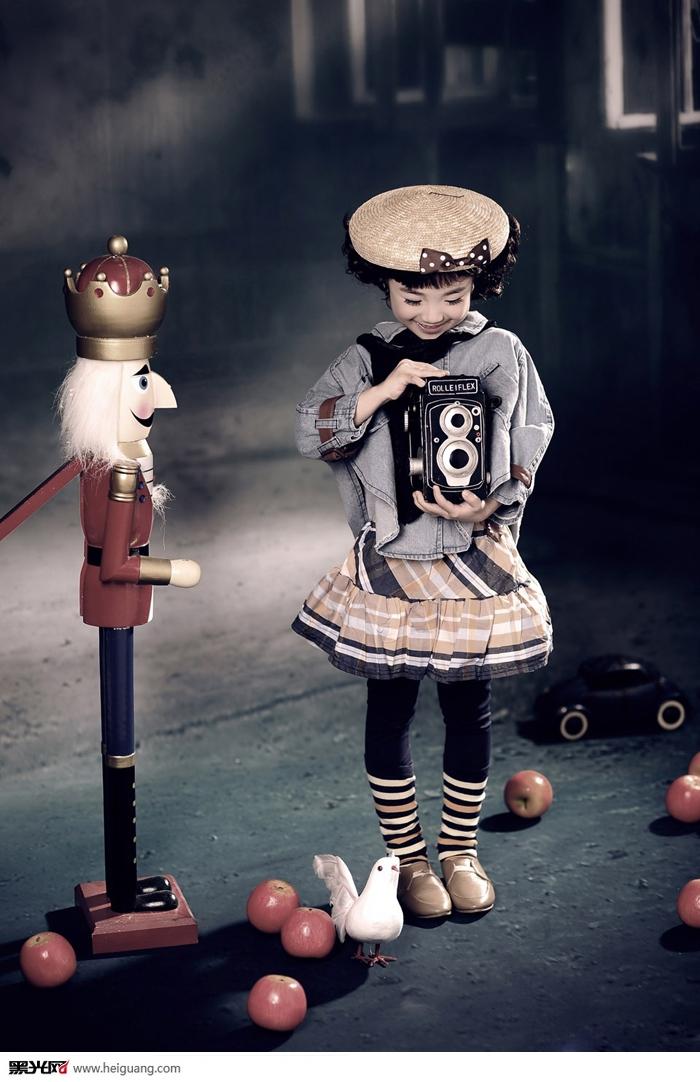 红苹果 儿童摄影