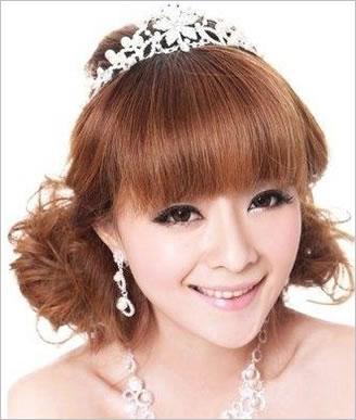 韩式最美短发新娘造型 做最亮眼新娘子