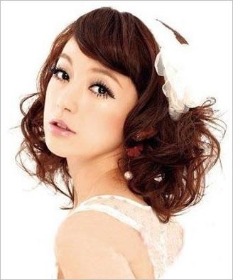 韩式最美短发新娘造型