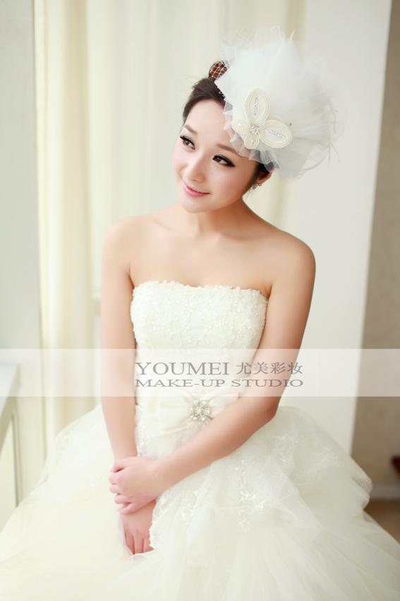 2013最新新娘造型 清纯可爱美新娘_妆面赏析_影楼化妆